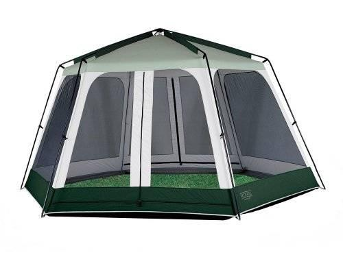 Super Appealing 60 Square Foot Mobile Cabin Camper: 12 X 14 Dome Canopy Screen House Back Yard Shade Tent