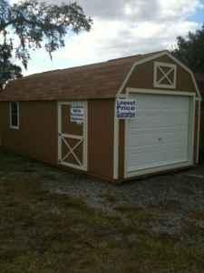 12 X 24 Lofted Portable Garage Shed For Sale In