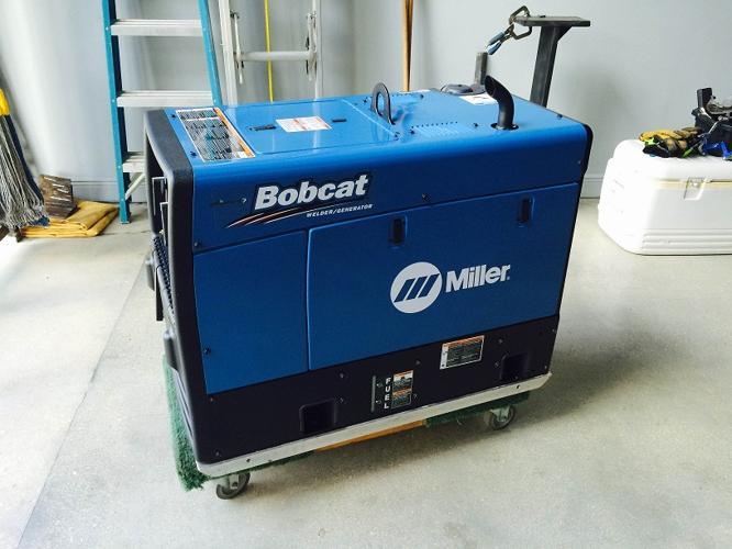 12000 Watts Bobcat Miller welder 250 EFI Generator