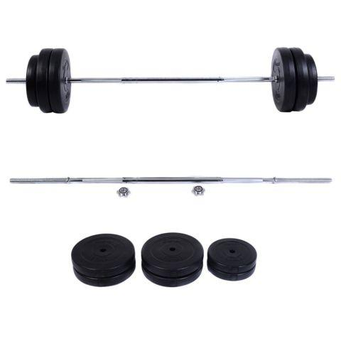 124 LB Barbell Dumbbell Weight Set Gym Lifting Exercise