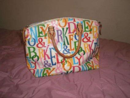 $125 Dooney and Bourke White Multi Color Purse Sioux Falls, SD