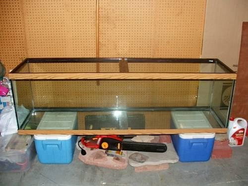 125 Gallon Tank Oak Trim