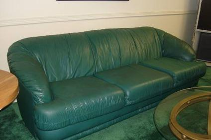 $125 SOFA - Used Green with Free Loveseat (with
