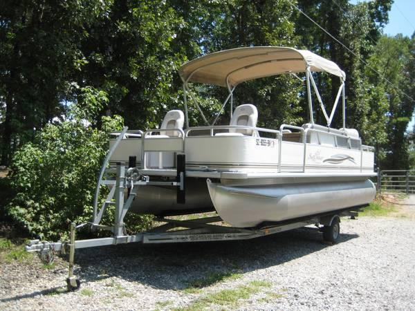 20 ft sylvan pontoon for sale in asheville north for Pontoon boat without motor for sale