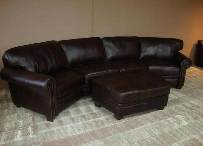 Outstanding Brand New100 Genuine Reno Chocolate Leather Sectional W Pabps2019 Chair Design Images Pabps2019Com