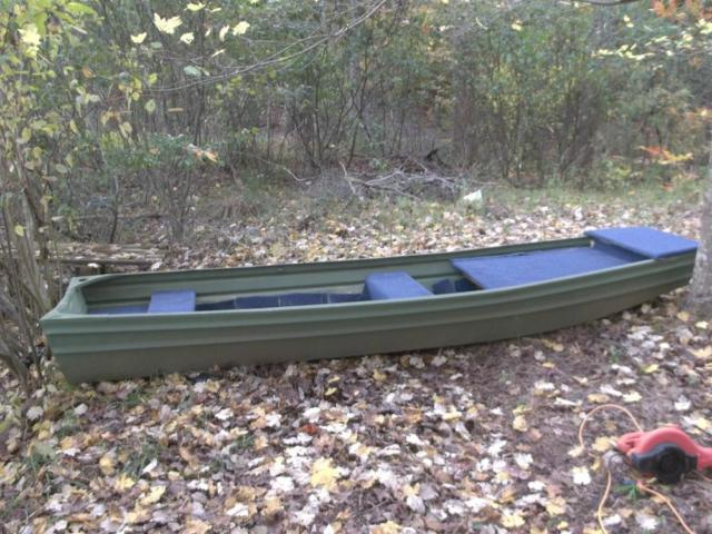 13' Jonboat with Two Platforms - Aluminum