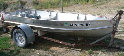 13' Lone Star V Haul Aluminum Boat, 10HP Evenrude O/B &