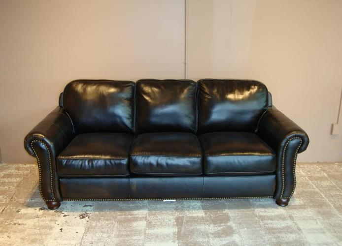 New Sofa Recliner 100 Genuine Wipe Off Leather Antique Black High Point For Sale In