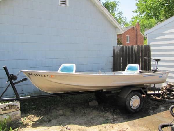 14 39 aluminum fishing boat extras for sale in port huron for Used aluminum fishing boats for sale in michigan