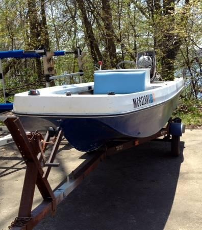14 39 center console fishing boat for sale in spring lake for Fishing boats for sale in michigan