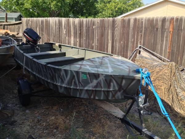 14 ft aluminum fishing and hunting boat for sale in for Best aluminum fishing boat for the money