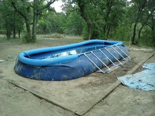 14 ft Ultra Frame Intex Swimming Pool with Cover, Ladder, Pump, etc ...
