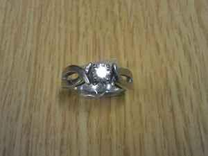 14 karat white gold engagement ring - $900 (Janesville,