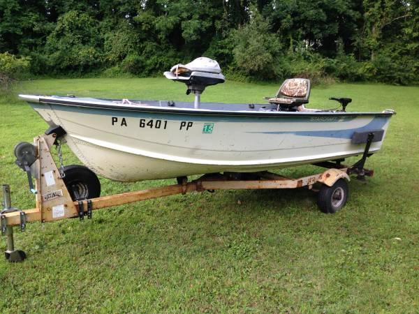 14 39 starcraft aluminum fishing boat for sale in for Starcraft fishing boats