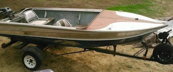 14 39 valco aluminum boat w yamaha 6hp outboard for sale for Yamaha outboard motors portland oregon