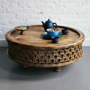 CARVED WOOD COFFEE TABLE West Elm For Sale In Chicago Illinois - West elm side table sale