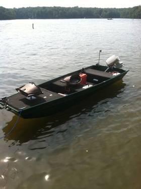 14ft Polar Kraft Jon Boat W 15hp Johnson For Sale In