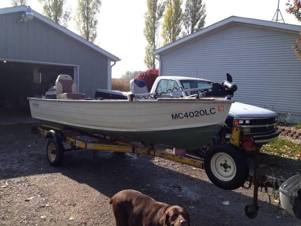 14ft starcraft deep vee fishing boat for sale in coleman for Outboard motors for sale in michigan