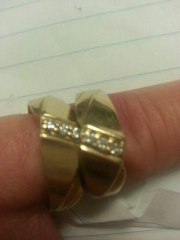 14K GOLD MATCHING BANDS SET/APPRAISED OVER 1200/ ONLY