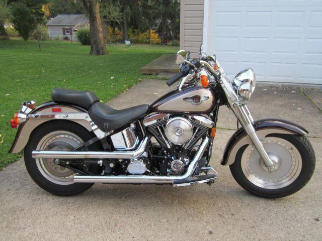 14k miles one owner 1998 fatboy harley davidson 95th anniversary for sale in aliq pennsylvania. Black Bedroom Furniture Sets. Home Design Ideas