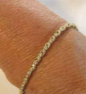 14KT Gold Bracelet with 78 Diamonds - 6.5 Grams - $499