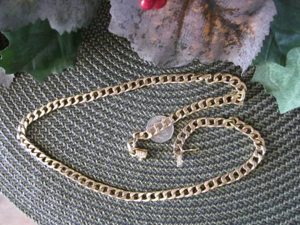 14kt Solid Yellow Gold Cuban Curb Link Chain 20.5