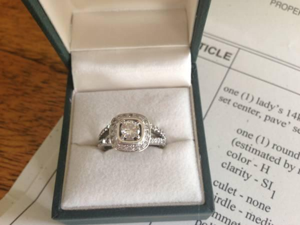 14kt White Gold Diamond Engagement Ring - $2000