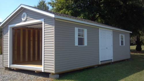 14x32 Building With Garage And Side Doors For Sale In