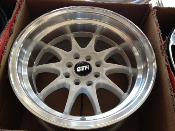 15 STR RIMS BLACK GOLD RED GREEN WITH TIRE BRAND NEW - for ...