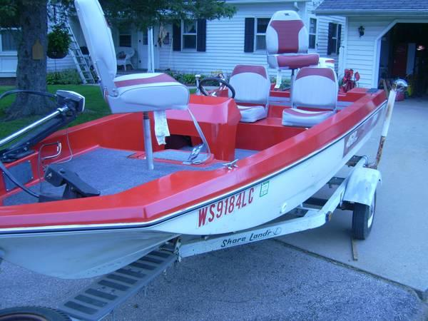 15 39 terry bass fishing boat w trailer for sale in for Bass fishing boats for sale