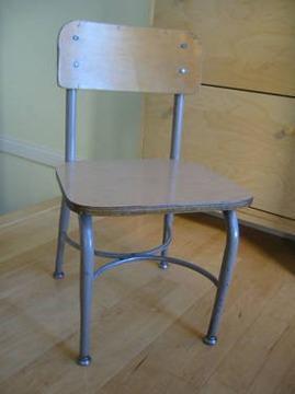 15 vintage wooden metal school chair