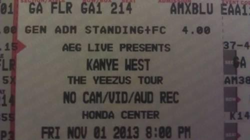 Floor Tickets For Kanye West Yeezus Tour Fri Nov