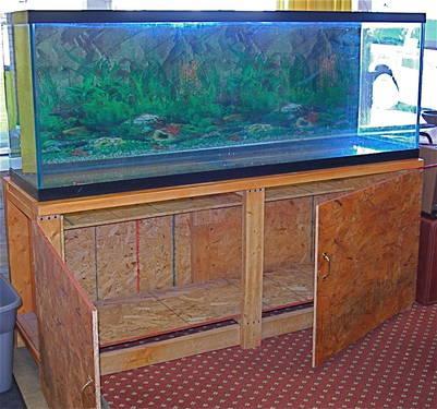 150 Gallon fish tank AQUARIUM stand light hood pumps filter gravel for Sale in Sturgis, Michigan ...