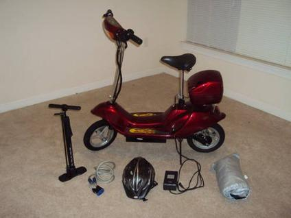$150 Gorgeous Fire Engine Red Electric Scooter +