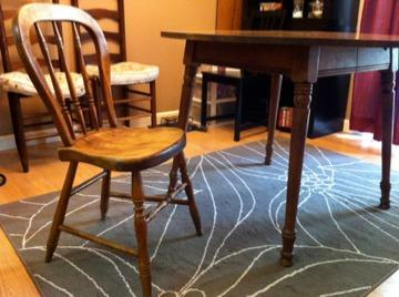 Obo Antique Hard Rock Maple Wood Chairs And Round Table