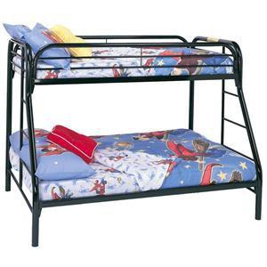 OBO Black Metal Bunk Bed (twin over full) for Sale in Manhattan ...