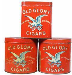$150 Three Old Glory Cigar Tins for 50 Cigars
