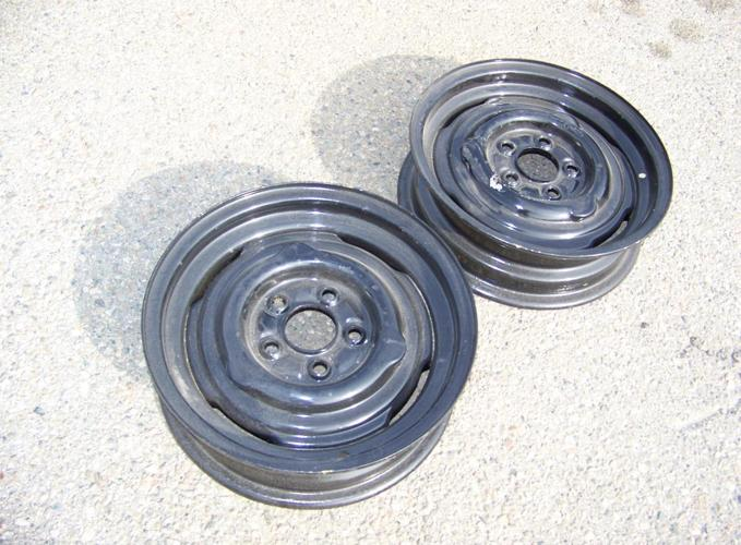 15X4.5 FORD MOPAR STEEL RIMS HOT ROD