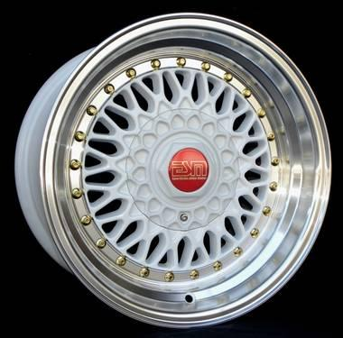 15x8 Esm Bbs Rs Style Wheels Rims Premadona White With