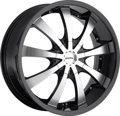 16 17 18 20 22 MKW Wheels Black Dodge Magnum Charger Challenger