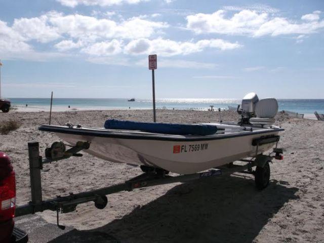 16 39 2005 carolina skiff j16 for sale in panama city for Used boat motors panama city fl