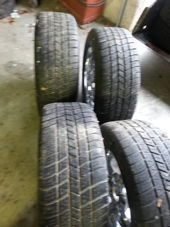 16 crome rims and tires 5 lugs - $200
