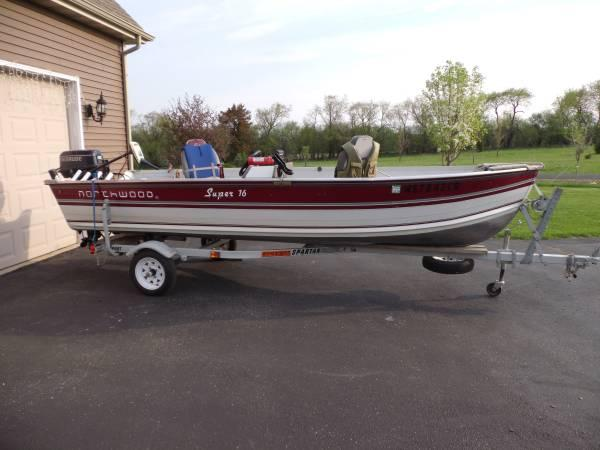 16 foot aluminum fishing boat for sale in wales
