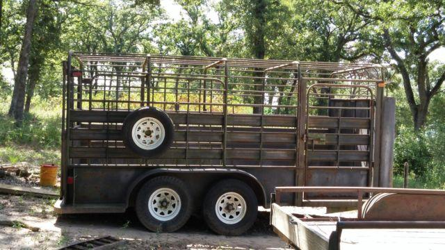 16 foot stock trailer for sale