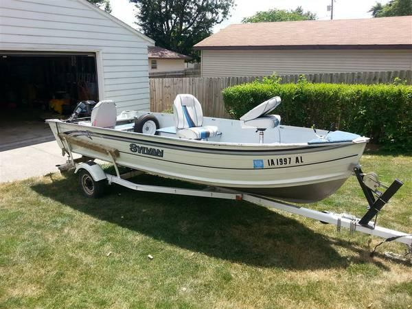 16 foot sylvan super snapper fishing boat for sale in for Fishing boats for sale in iowa