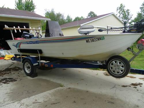 16 ft lowe fishing boat for sale in wheeler michigan for 16 ft fishing boat