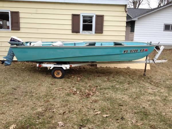 16 ft lund boat trailer 15 hp motor trolling motor gas