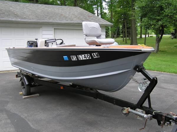 16 ft sylvan aluminum boat for sale in little suamico for Outboard motors for sale in wisconsin