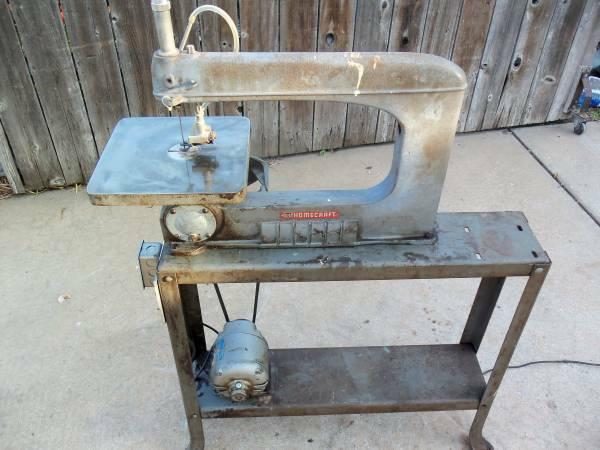 16-In. Delta Scroll Saw, Belt Drive, WStand - Runs Great