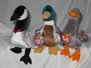 6d9434e39ee Ty Beanie Babies Set of 3 Jake Duck Loosy Goose Honks Goose for Sale ...